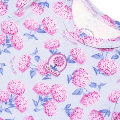 Imagem 3 do produto Body curto com Shorts em algodão egípcio c/ jato de cerâmica e filtro solar fps 50 L'Hortensia - Mini & Kids - CBS1746 CJ. BODY MC SHORTS SUEDINE HORTÊNCIAS-G