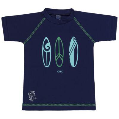 Imagem 2 do produto Conjunto de Banho Pranchas de Surf: Camiseta + Bermuda - Cara de Criança
