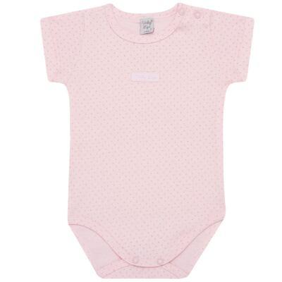 Imagem 1 do produto Body curto para bebe em suedine Classic Girls - Vicky Lipe - BCE560 BODY MC ESTAMPADO SUEDINE CLASSICO-GG