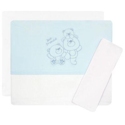 Imagem 1 do produto Jogo de lençol em malha para berço Ursinho - Classic for Baby - JLMP282 JOGO DE LENÇOL MALHA URSINHO