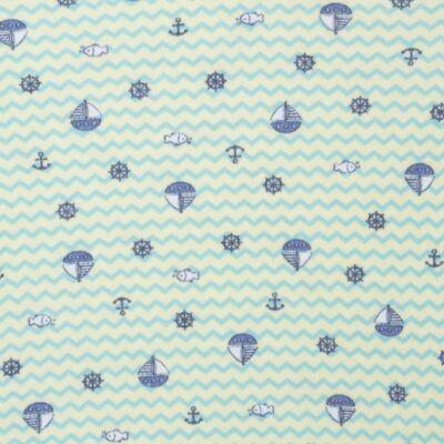 Imagem 2 do produto Body curto para bebe em algodão egípcio c/ jato de cerâmica e filtro solar fps 50  Little Boat - Mini & Kids - BSM1747 BODY MC SUEDINE NAVY-G