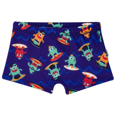 Sunga Boxer para bebe em Lycra Monstros do Surf - Puket - PK110400247.320 Sunga Boxer Kids Monstro EV Azul-6