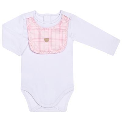 Imagem 3 do produto Body c/ Babador e Mijão para bebe em suedine Le Petit Rosa - Baby Classic - 18010001.01 CONJUNTO BODY C/ BABADOR E MIJÃO-SUEDINE-M