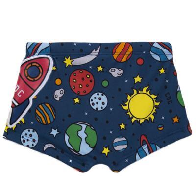 Imagem 4 do produto Conjunto de Banho para bebe Galaxy: Camiseta + Sunga - Cara de Criança - KIT 1 2578: SBB2578+CCAB2578 SUNGA E CAMISETA ESPACIAL-GG