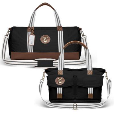 Imagem 1 do produto Bolsa Passeio para bebe + Bolsa Melbourne Adventure em sarja Preta - Classic for Baby Bags