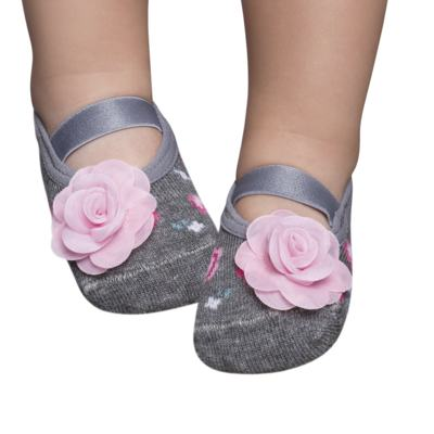 Imagem 1 do produto Meia Sapatilha para bebe Flor - Puket