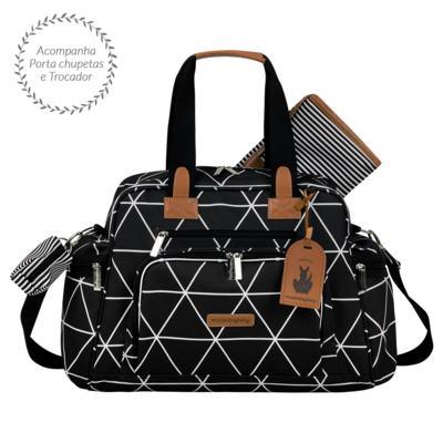 Imagem 3 do produto Mala Maternidade com Rodízio + Bolsa Everyday + Frasqueira térmica Emy + Mochila Noah Manhattan Preta - Masterbag