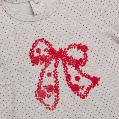 Imagem 3 do produto Bata com Legging para bebe em cotton Ribbon Roses - Baby Classic - 18210002.21 BLUSA C/ LEGGING  MALHA/ COTTON LACO-2