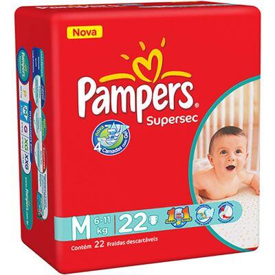 Imagem 1 do produto Fralda Pampers Supersec Tamanho M - 22 unidades