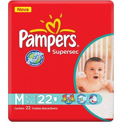 Imagem 2 do produto Fralda Pampers Supersec Tamanho M - 22 unidades