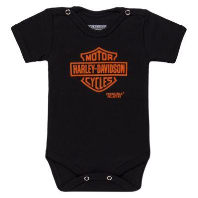 Imagem 1 do produto Body curto para bebe em suedine Motoqueiro - Primeiras Palavras - PP1608 BODY HARLEY MANGA CURTA-GG