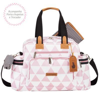 Imagem 3 do produto Mala Maternidade com Rodízio + Bolsa Everyday + Frasqueira térmica Emy + Mochila Noah Manhattan Rosa - Masterbag