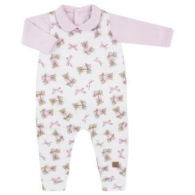 Imagem 1 do produto Jardineira com Body longo para bebe em viscomfort Bellamy - Petit - 16084168 JARDINEIRA BODY ML VISCOMF/ SU URSA -GG