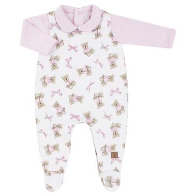 Imagem 1 do produto Jardineira com Body longo para bebe em viscomfort Bellamy - Petit - 16084168 JARDINEIRA BODY ML VISCOMF/ SU URSA -RN