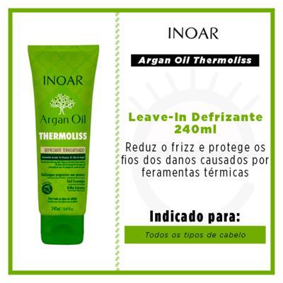 Imagem 2 do produto Inoar Argan Oil Thermoliss Desfrizante Termoativado - Balsámo Antifrizz - 240ml