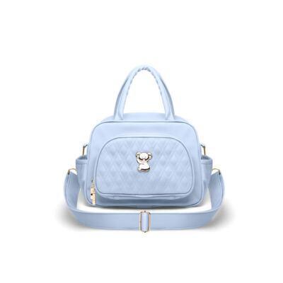 Imagem 4 do produto Kit Mala Maternidade para bebe + Bolsa Veneza + Frasqueira Térmica Milão Golden Koala Azul - Classic for Baby Bags