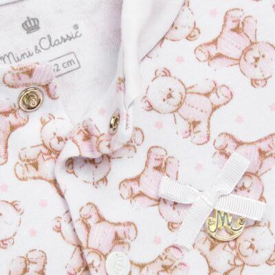 Imagem 2 do produto Macacão para bebe em algodão egípcio c/ jato de cerâmica Princess Bear - Mini & Classic - 3032655 MACACAO M/C C/ GOLA SUEDINE URSA -M