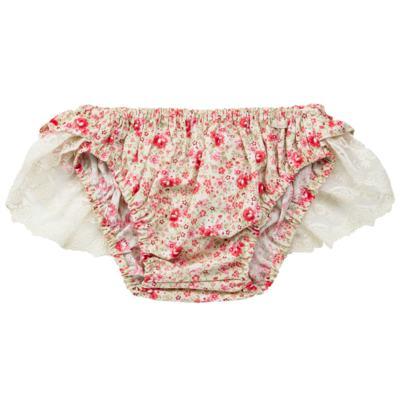 Imagem 3 do produto Conjunto de banho para bebê Liberty: Bumbum + Chapéu - Roana - BSR00900973 BANHO DE SOL C/ RENDA 3737 FLORAL/LARANJA-G