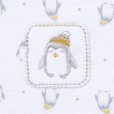 Imagem 3 do produto Body longo c/ Calça  para bebe em algodão egípcio Penguin - Piu-Piu - PIU993013.145 BODY C/ CALÇA MASC PINGUIM-G