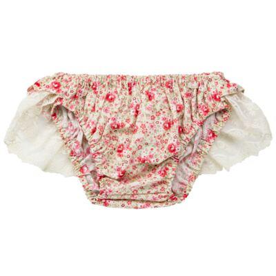Imagem 3 do produto Conjunto de banho para bebê Liberty: Bumbum + Chapéu - Roana - BSR00900973 BANHO DE SOL C/ RENDA 3737 FLORAL/LARANJA-P