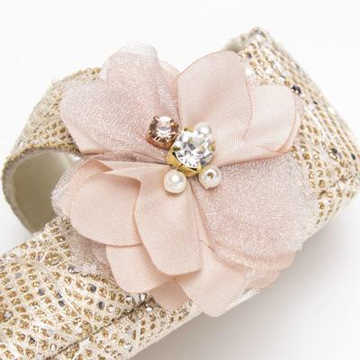 Imagem 4 do produto Sapatilha gliter para bebe Flor Rosê - Roana - SPE00039003 Sapatilha Especial Rose Flor -RN