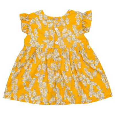 Imagem 3 do produto Vestido para bebe em tricoline Daisy - Mini & Classic - 1417657 VESTIDO REGATA TRICOLINE FLORAL AMARELO-P