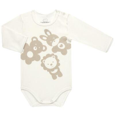 Imagem 2 do produto Body longo c/ Calça para bebe em suedine Little Friends - Dedeka - DDK17570/L14 CONJUNTO DE BODY RIBANA MARFIM-M