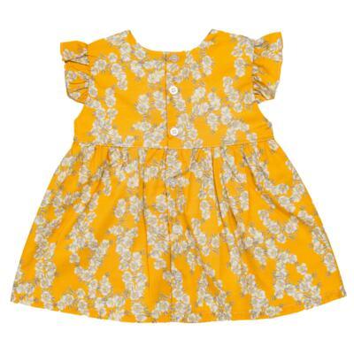 Imagem 3 do produto Vestido para bebe em tricoline Daisy - Mini & Classic - 1417657 VESTIDO REGATA TRICOLINE FLORAL AMARELO-3