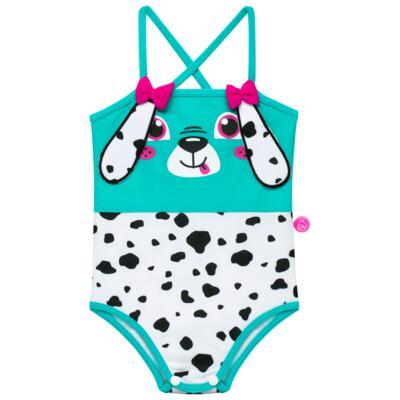Imagem 2 do produto Conjunto de Banho para bebe Dalmatians: Camiseta + Maiô + Chapéu - Cara de Criança - KIT 1 2536: MB2536+CH2536+CCAB2536 MAIO E CHAPEU E CAMISETA DALMATA-G