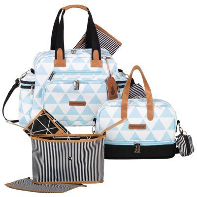 Imagem 1 do produto Bolsa Everyday + Frasqueira térmica Vicky + Frasqueira Organizadora Manhattan Azul - Masterbag
