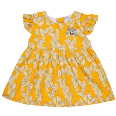 Imagem 1 do produto Vestido para bebe em tricoline Daisy - Mini & Classic - 1417657 VESTIDO REGATA TRICOLINE FLORAL AMARELO-M