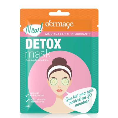 Imagem 2 do produto Kit Máscara Facial Revigorante Detox Dermage Sachê 10g 3 Unidades