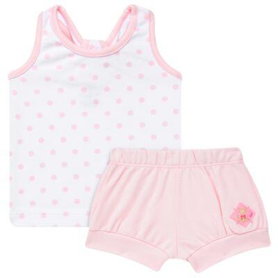 Imagem 1 do produto Regata c/ Shorts para bebe em algodão egípcio Princess - Bibe - 39G23-G79 CJ CUR F RG SH BY BIBE-G
