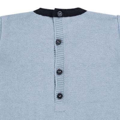 Imagem 3 do produto Macacão longo para bebe em tricot trançado Louis - Mini Sailor - 21774265 MACACAO COM TRANÇAS TRICOT AZUL BEBE-9-12