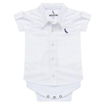 Imagem 1 do produto Body camisa para bebe Branco - Reserva Mini - RM25359 BODY CAMISA BRANCO-P