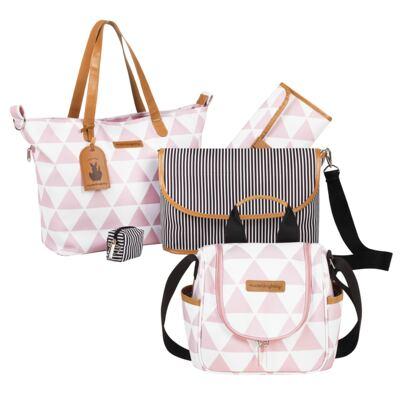 Imagem 1 do produto Bolsa 4 em 1 Sofia + Frasqueira térmica Emy Manhattan Rosa - Masterbag