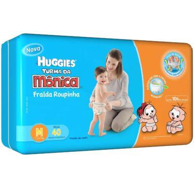 Imagem 1 do produto Fralda Descartável Huggies Mega Veste Fácil M 40 Unidades