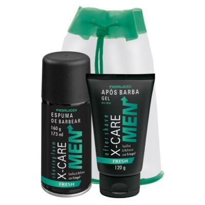 Imagem 1 do produto Kit Barba X-Care Men Fresh Espuma de Barbear 160g + Gel Após Barba 120g