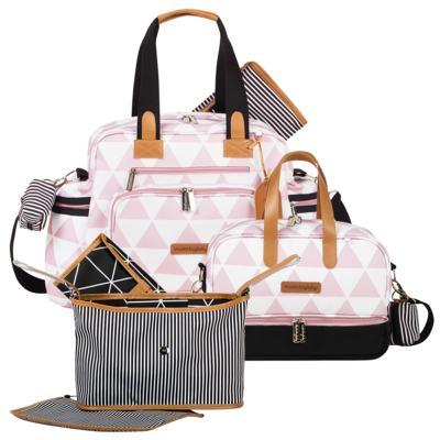 Imagem 1 do produto Bolsa Everyday + Frasqueira térmica Vicky + Frasqueira Organizadora Manhattan Rosa - Masterbag