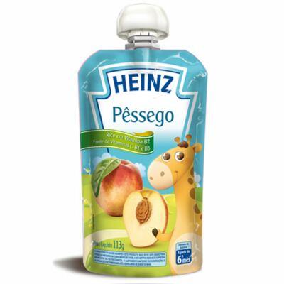 Imagem 1 do produto Papinha para bebe Pessêgo (6m+)  - Heinz - HZ14869 Papinha Pessego 113gr