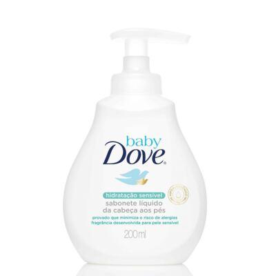 Imagem 2 do produto Kit Dove Baby Hidratação Sensível: Shampoo 200ml + Condicionador  200ml + Sabonete Líquido 200ml