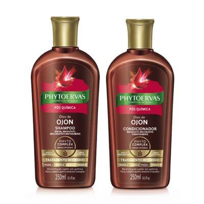 Imagem 1 do produto Shampoo Phytoervas pós-química 250ml + Condicionador Phytoervas pós-química 250ml