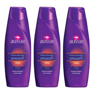 Imagem 1 do produto Kit 3 Shampoo Aussie Smooth 400ml