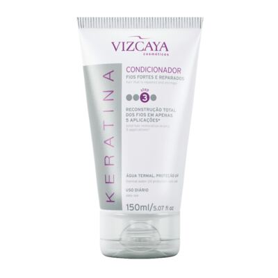 Imagem 3 do produto Shampoo Keratina Vizcaya 200ml + Condicionador Keratina Vizcaya 150ml