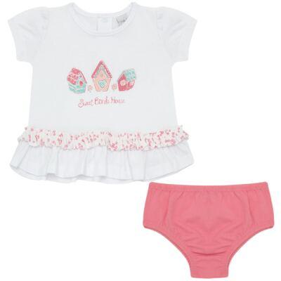 Imagem 1 do produto Bata com Calcinha para bebe em cotton Secret Home - Vicky Lipe - 831565 CONJUNTO BATA C/ CALCINHA COTTON-G