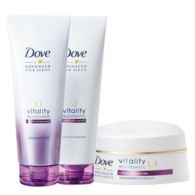 Imagem 1 do produto Kit Dove Vitality Rejuvenated Shampoo + Condicionador 200ml + Creme de Tratamento 350g