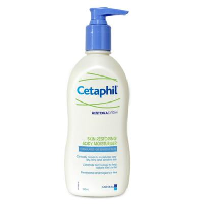 Imagem 2 do produto Restoraderm Hidratante Cetaphil 295ml + Protetor Solar Daylong Lipossomal Cetaphil FPS 50 150ml