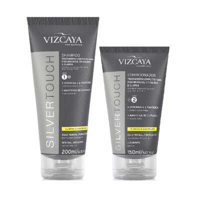 Imagem 1 do produto Shampoo Vizcaya Silver Touch 200ml + Condicionador Vizcaya Silver Touch 200ml