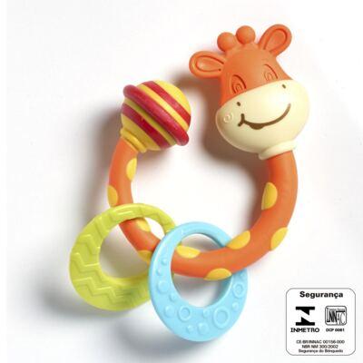 Imagem 2 do produto Meu Primeiro Chocalho Mordedor Girafinha  (0m+) - Tiny Love - D0214 Mordedor Girafa (0m+)