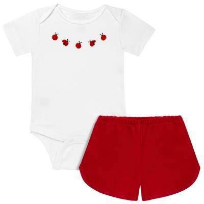 Imagem 1 do produto Body curto c/ Shorts em suedine Joaninha - Coquelicot